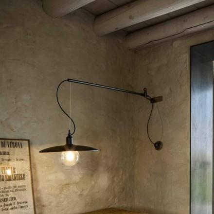 Kinkiet mosiężny w stylu vintage z ruchomym ramieniem - Meridiana Aldo Bernardi