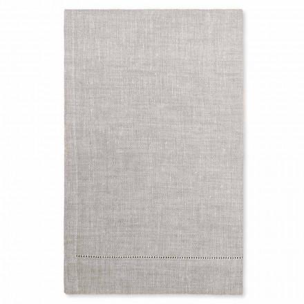 Ręcznik kąpielowy biały lub naturalny lniany Made in Italy, 2 sztuki - Chiana