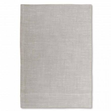 Kremowy lub naturalny ręcznik kąpielowy z czystego lnu Made in Italy, 2 sztuki - Blessy