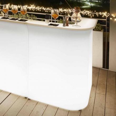 Bar narożny podświetlany do zewnątrz Slide Break Corner, made in Italy
