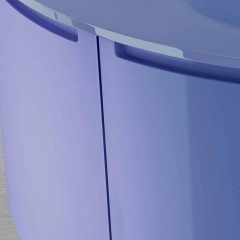 Drewniana podwieszana toaletka Gioia z 2 drzwiami, nowoczesny design