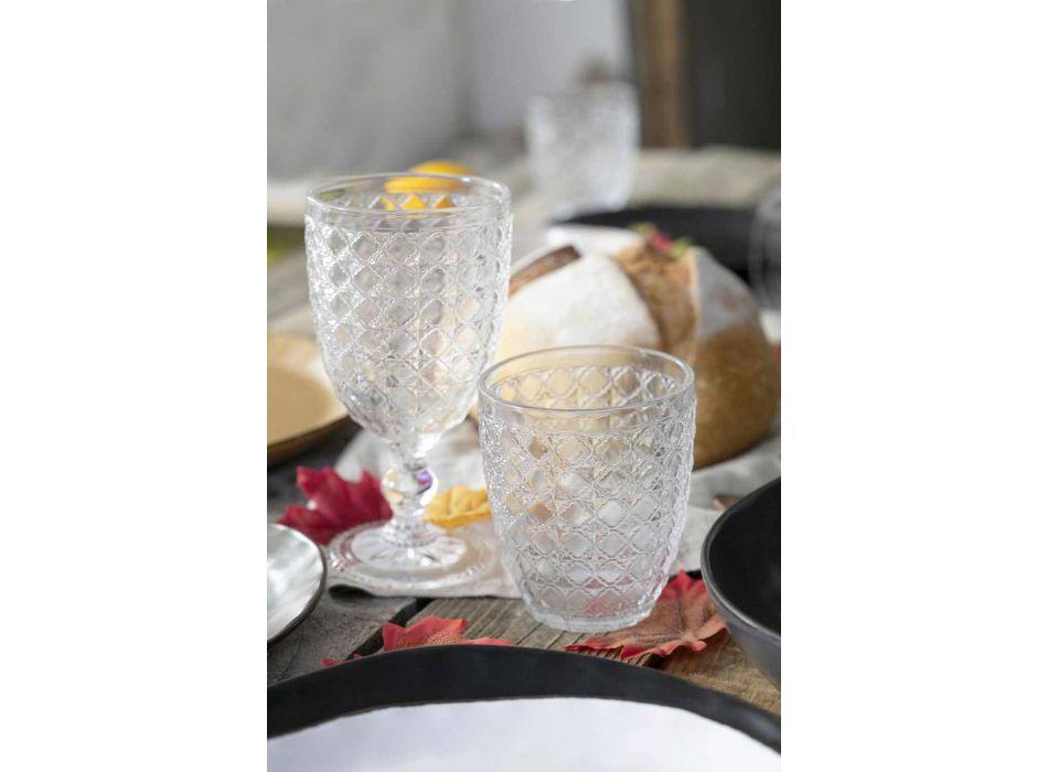Szklanki do serwowania 12 sztuk w przezroczystym szkle do wody - optyczne