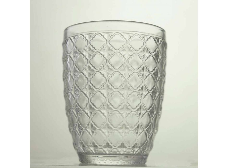 6 sztuk serwujących szklanki z przezroczystego szkła na wodę - optyczne