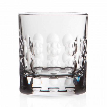 Podwójne staroświeckie kryształowe kieliszki do whisky 12 sztuk - Titanioball