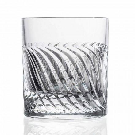 Luksusowe Eco Crystal DOF Szklanki do whisky 12 sztuk - Arytmia