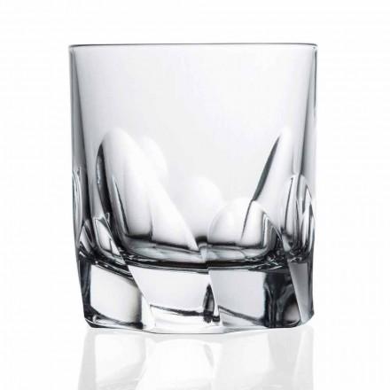 Ozdobiona whisky lub woda ze szkła kryształowego 12 sztuk Dof Design - tytan