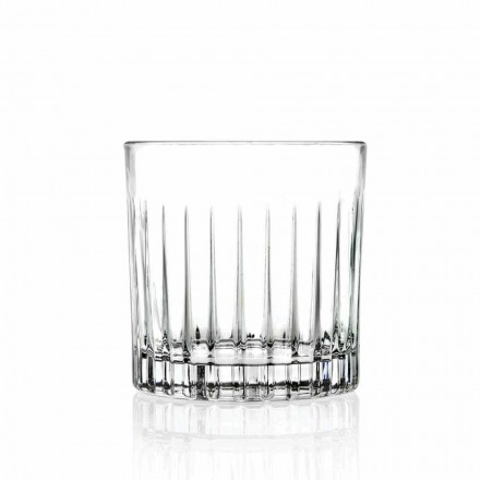 Lowball Tumbler Basso Old Fashioned Glasses for Cockatil 12 Pieces - Senzatempo