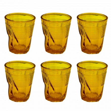 Nowoczesne kolorowe szklane szklanki do wody 12 sztuk - Sarabi