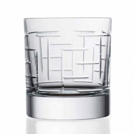 Podwójne szklanki do whisky Old Fashion Crystal 12 sztuk - Arytmia