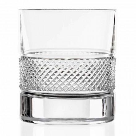 Niskie Szklanki Szklanki Eco Kryształ z Luksusową Dekoracją 12 Sztuk - Milito