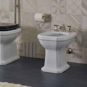 Biały ceramiczny styl vintage Made in Italy Bidet - Nausica