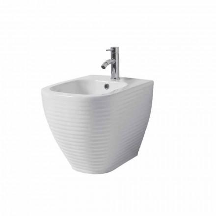 Bidet mielony w białej lub kolorowej szkliwionej ceramice Trabia
