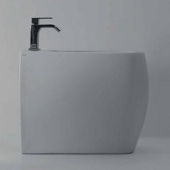 Biały ceramiczny bidet z nowoczesnym wzornictwem Gais, wyprodukowany we Włoszech