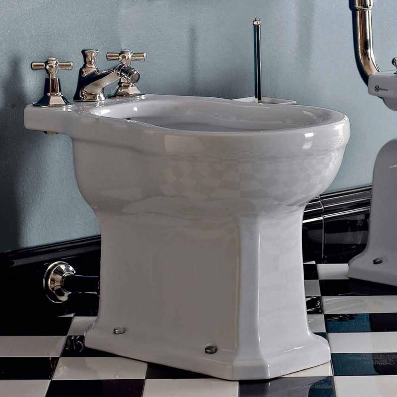Vintage czarny lub biały ceramiczny bidet podłogowy Made in Italy - Marwa