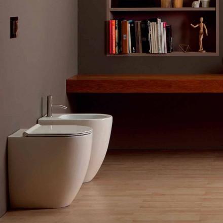 Nowoczesny design ceramiczny bidet Shine Square Open Rimless H50 cm