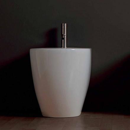 Nowoczesny ceramiczny bidet Shine Square Rimless 54x35cm wykonany we Włoszech