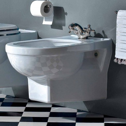 Klasyczny bidet jednootworowy z białej ceramiki Made in Italy - Marwa