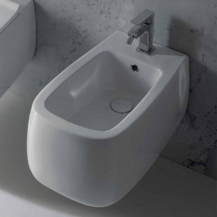 Zaprojektowany podwieszany bidet w białym ceramice Gaiola, wyprodukowany we Włoszech
