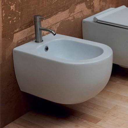 Nowoczesny design ceramiczny bidet ścienny Star 55x35cm wyprodukowany we Włoszech