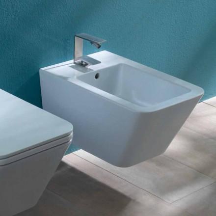 Design zawieszany ceramiczny bidet Sun Square 55x35cm, wyprodukowany we Włoszech