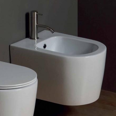 Nowoczesny ceramiczny bidet Shine Square 50x35cm, wyprodukowany we Włoszech