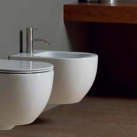 Nowoczesny bidet wiszący w białej ceramicznej oprawie Star 50x35cm wykonany we Włoszech
