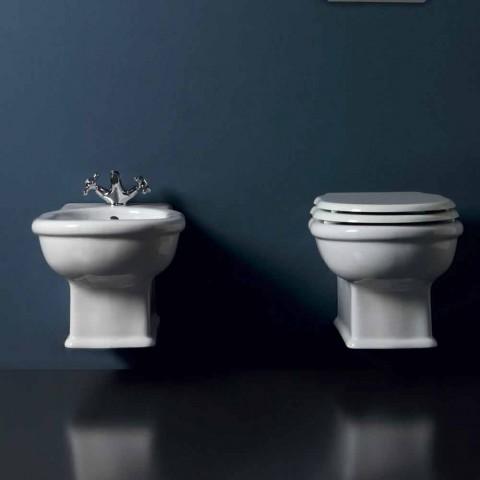 Nowoczesny bidet wiszący w białym ceramicznym stylu 54x36 cm, wyprodukowany we Włoszech