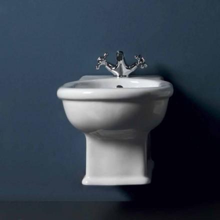 Bidet wiszący w białym ceramicznym stylu 54x36 cm, wyprodukowany we Włoszech