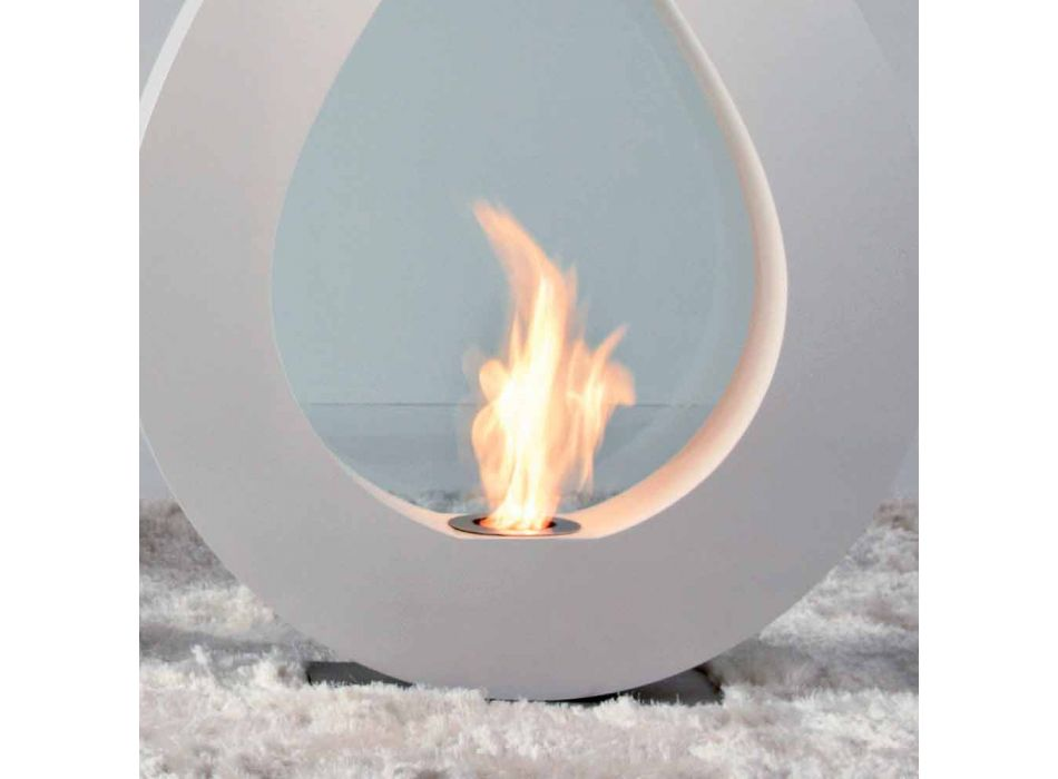 Biocamino z bioetanolu ziemi, płomień w kształcie nowoczesny Todd projekt