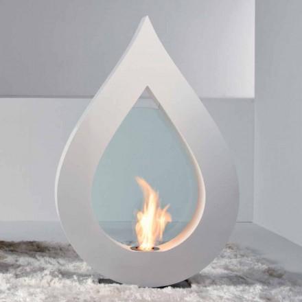 Biokominek podłogowy design w kształcie ognia, model Todd