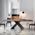 Bonaldo Ax stół design z drewna z naturalnymi brzegami made in Italy