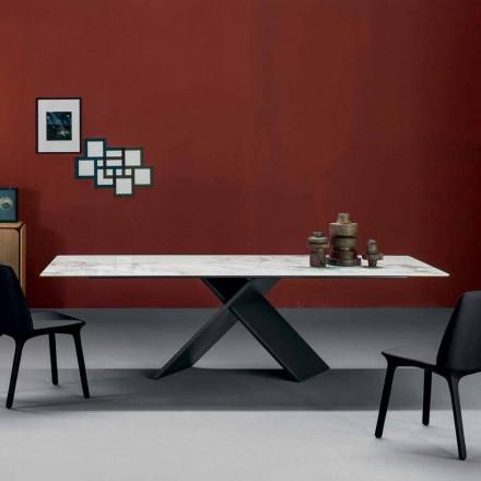 Bonaldo Ax stół design z ceramiki i metalu made in Italy
