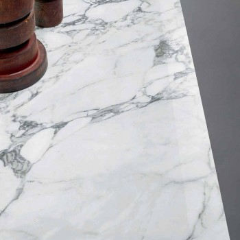 Bonaldo Axe płaski stół w ceramicznej metalowej podstawie wykonanej we Włoszech