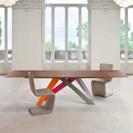 Bonaldo Big Table stół rozkładany drewno firnirowane made in Italy