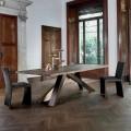 Bonaldo Big Table stół z litego drewna z naturalymi brzegami design