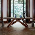 Bonaldo Big Table stół z litego drewna design made in Italy