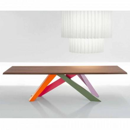 Bonaldo Big Table stół z litego drewna amerykański orzech made in Italy
