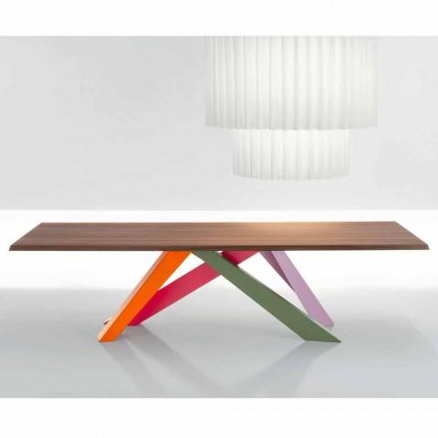 Stół z litego drewna orzechowego Bonaldo Big Table wykonany we Włoszech