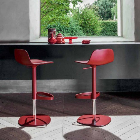 Bonaldo Bonnie obrotowy regulowany stalowy stołek wykonany we Włoszech Bonnie
