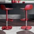 Bonaldo Bonnie stalowy regulowany stołek obrotowy Bonnie wyprodukowany we Włoszech