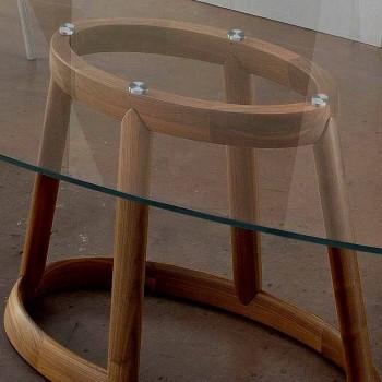 Bonaldo Greeny to owalny stół wykonany z drewna i kryształu we Włoszech
