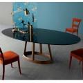 Bonaldo Greeny stół owalny z marmuru Marquinia made in Italy