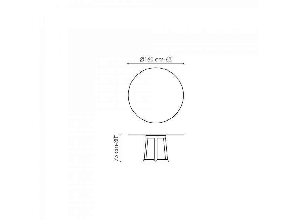 Bonaldo Greeny okrągły stół z marmuru Emperador wykonał Włochy