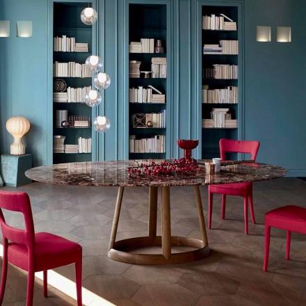 Bonaldo Greeny stół okrągły design z marmurowym blatem Emperador