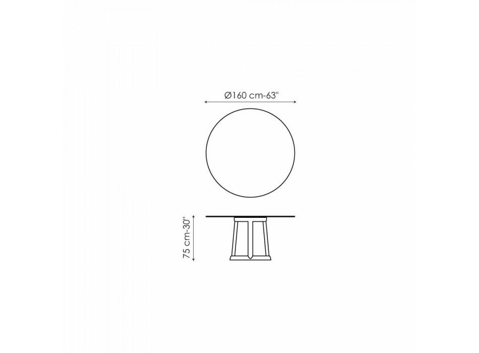 Okrągły stół Bonaldo Green Design Podłoga z marmuru Carrara wykonana we Włoszech