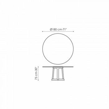 Okrągły stół Bonaldo Greeny Podłoga marmurowa Calacatta wykonana we Włoszech