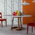 Bonaldo Greeny stół okrągły design z marmurowym blatem Calacatta