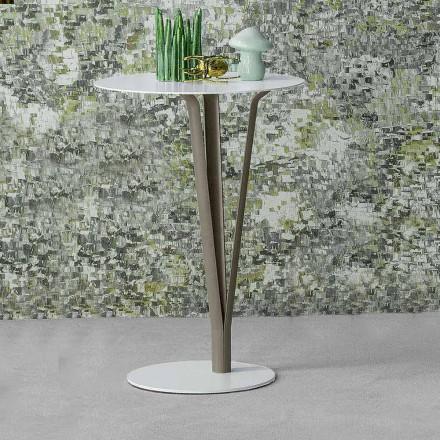 Bonaldo Kadou stolik kawowy z lakierowanej stali śred. 39 cm design