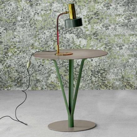 Bonaldo Kadou stolik kawowy z lakierowanej stali śred. 50 cm design
