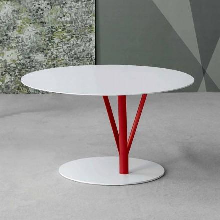 Bonaldo Kadou stolik kawowy z lakierowanej stali śred. 70 cm design
